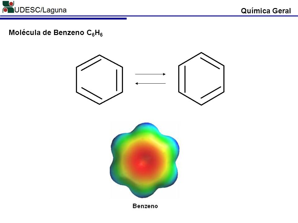 Química Geral Molécula de Benzeno C 6 H 6