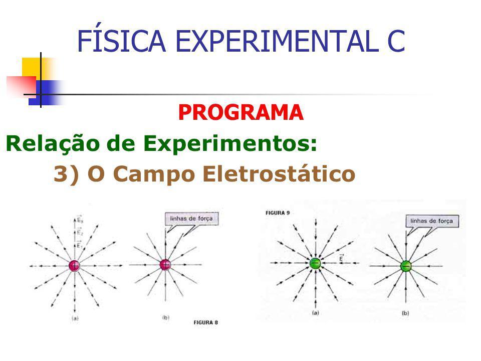 FÍSICA EXPERIMENTAL C PROGRAMA Relação de Experimentos: 3) O Campo Eletrostático