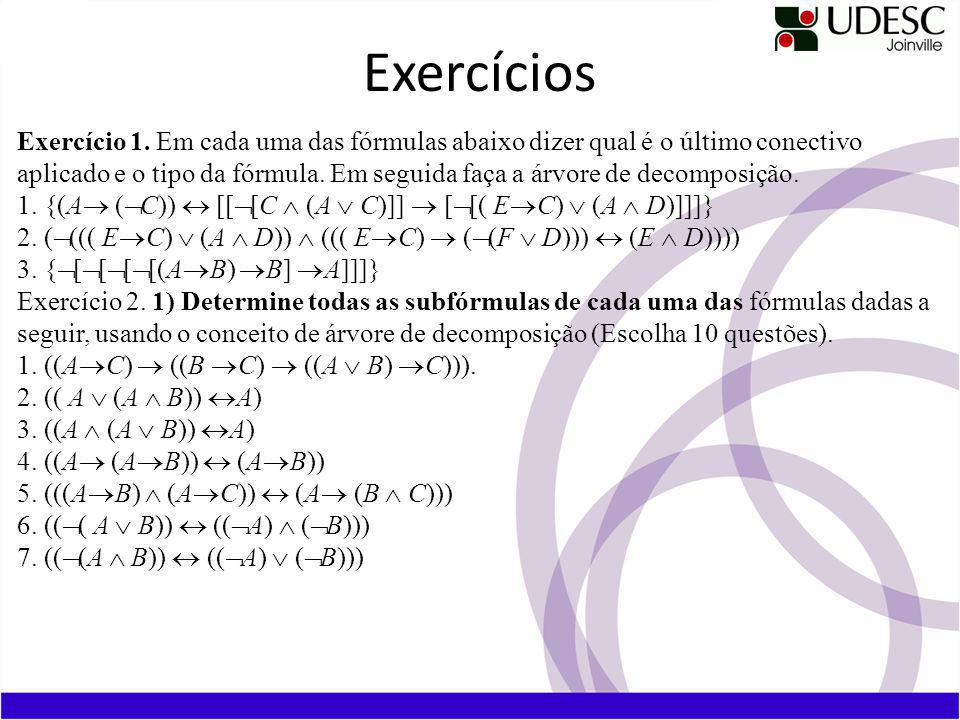 Tabela-verdade de uma fórmula