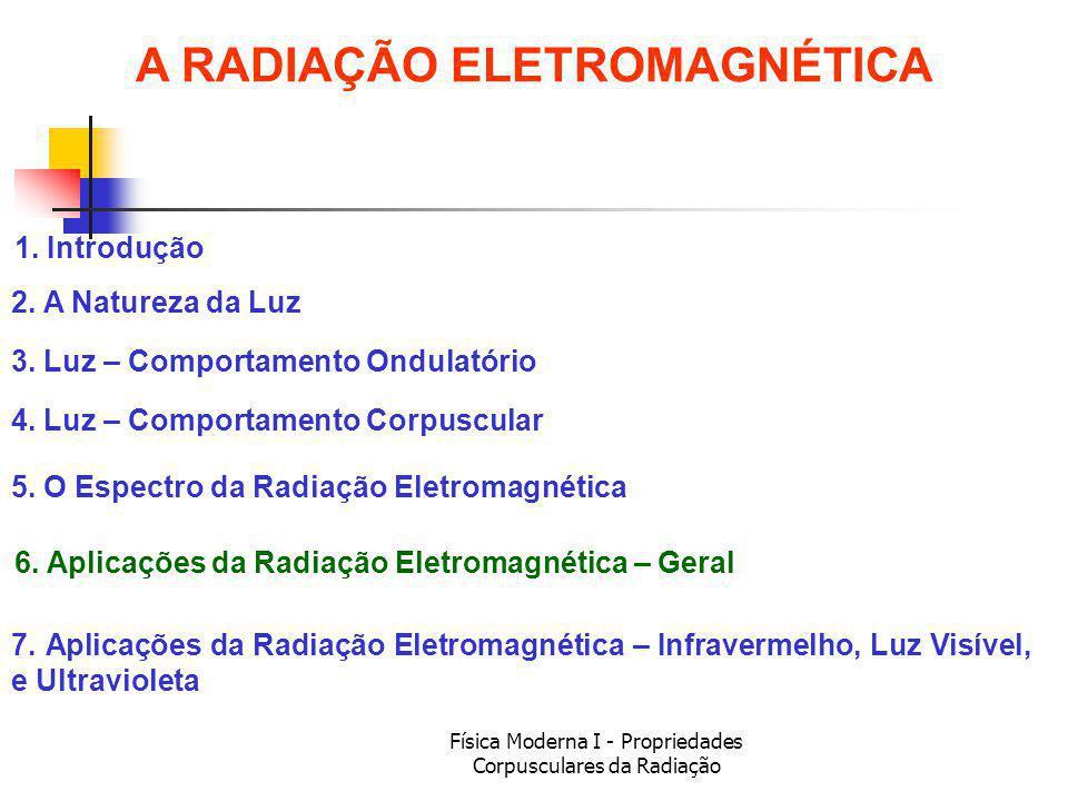 Física Moderna I - Propriedades Corpusculares da Radiação 1.