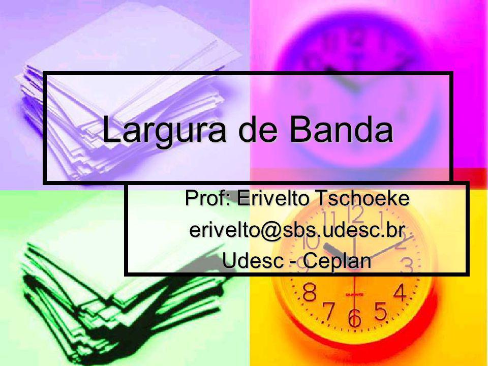 Largura de Banda : Limitações: Limitações: A largura de banda varia dependendo do tipo dos meios físicos assim como das tecnologias de rede local e WAN utilizadas.