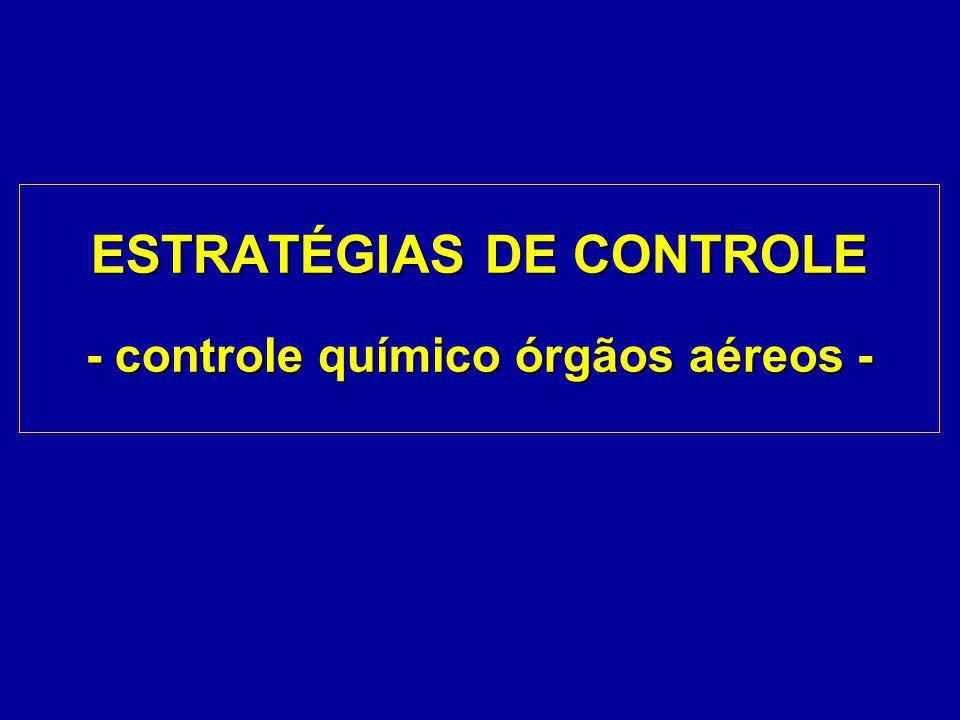 ESTRATÉGIAS DE CONTROLE - controle químico órgãos aéreos -