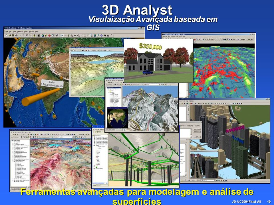 JD-UC2004Final-All19 3D Analyst Visulaização Avançada baseada em GIS Ferramentas avançadas para modelagem e análise de superfícies