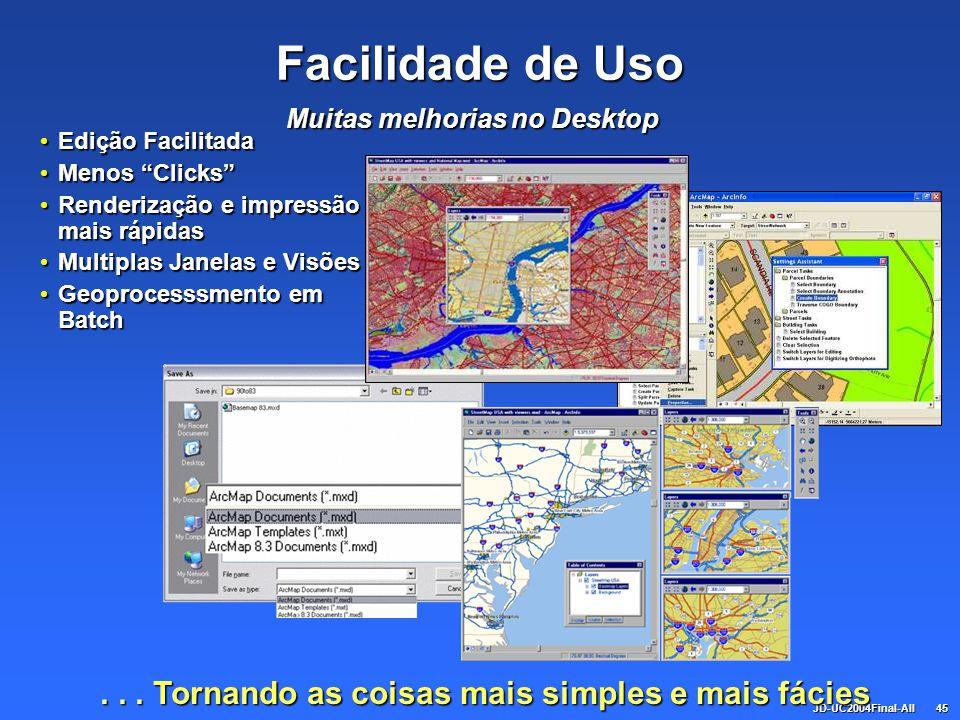 JD-UC2004Final-All45 Facilidade de Uso Edição Facilitada Edição Facilitada Menos Clicks Menos Clicks Renderização e impressão mais rápidas Renderizaçã