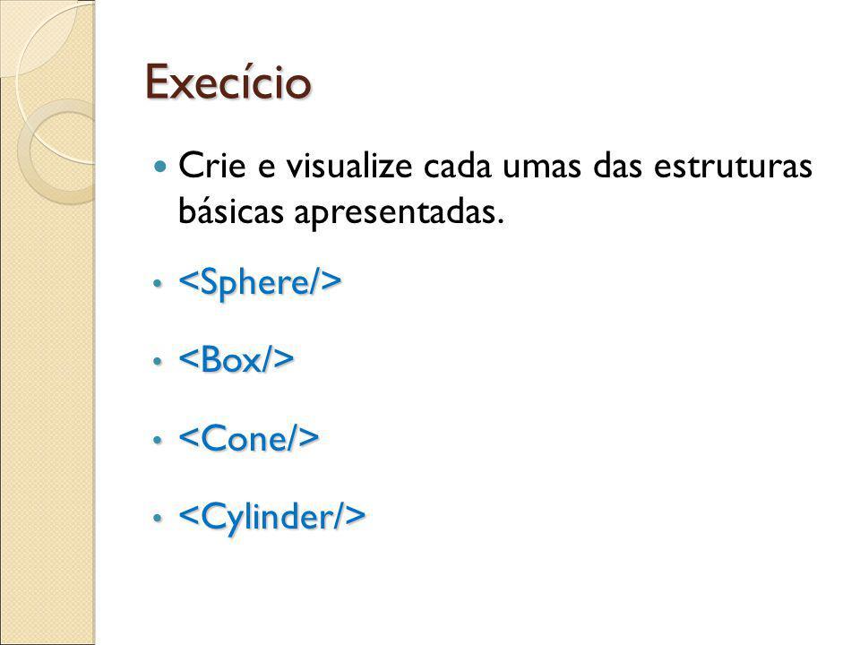 Execício Crie e visualize cada umas das estruturas básicas apresentadas.