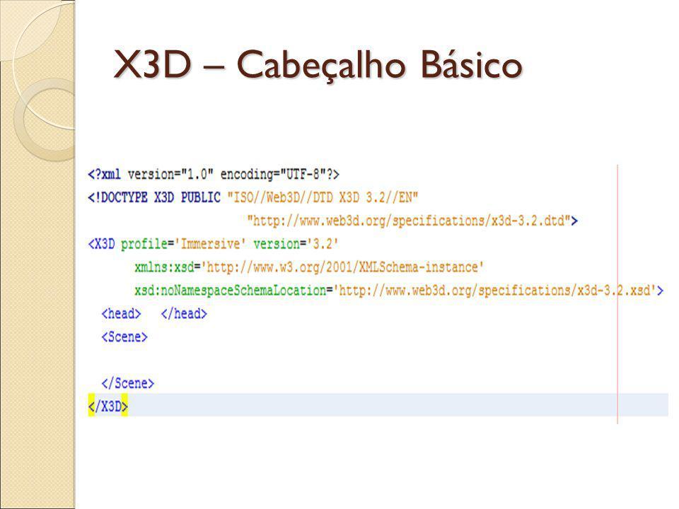 X3D - Aparência TAG Material: diffuseColor: Reflete as luzes do ambiente.