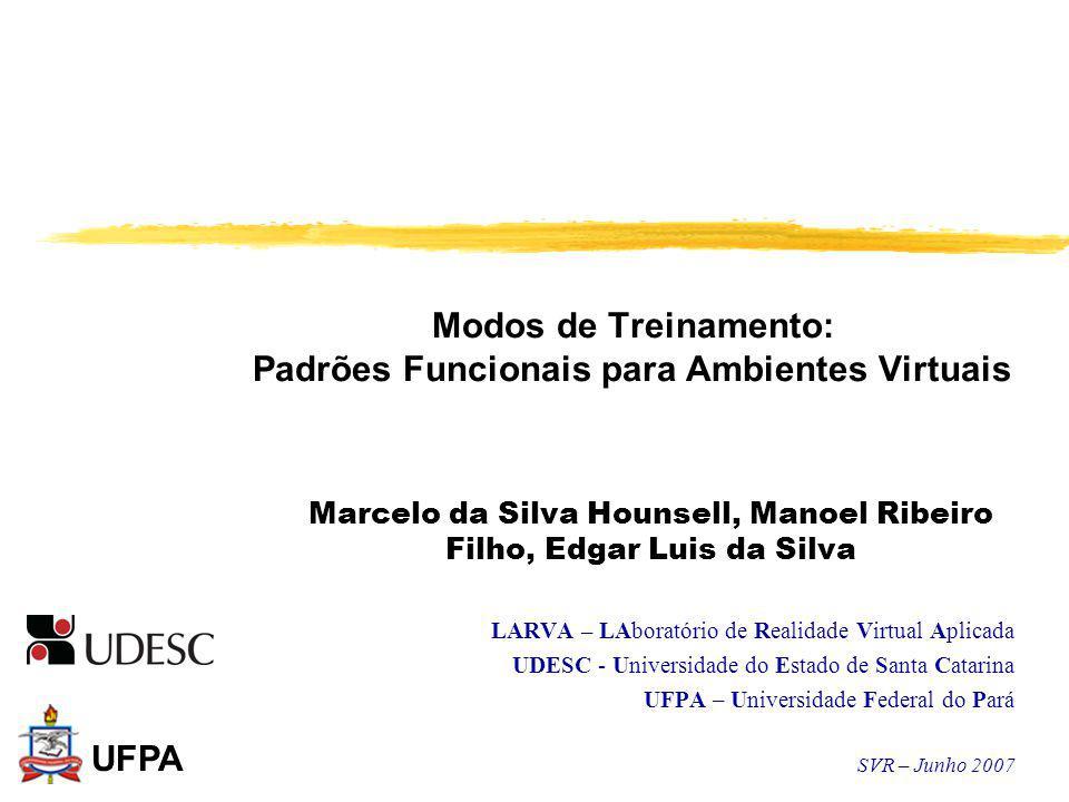 Modos de Treinamento: Padrões Funcionais para Ambientes Virtuais Marcelo da Silva Hounsell, Manoel Ribeiro Filho, Edgar Luis da Silva LARVA – LAborató