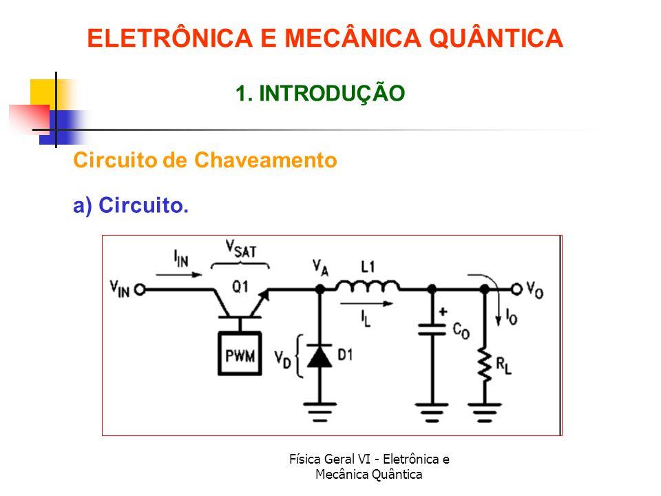 Física Geral VI - Eletrônica e Mecânica Quântica Circuito de Chaveamento ELETRÔNICA E MECÂNICA QUÂNTICA 1. INTRODUÇÃO a) Circuito.