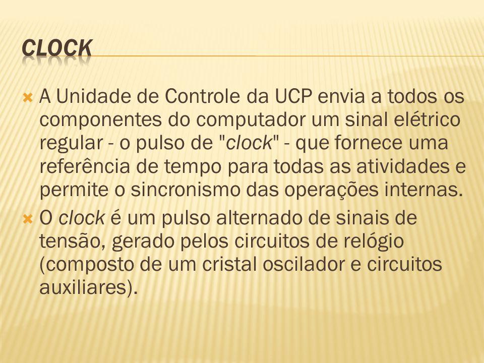 A Unidade de Controle da UCP envia a todos os componentes do computador um sinal elétrico regular - o pulso de