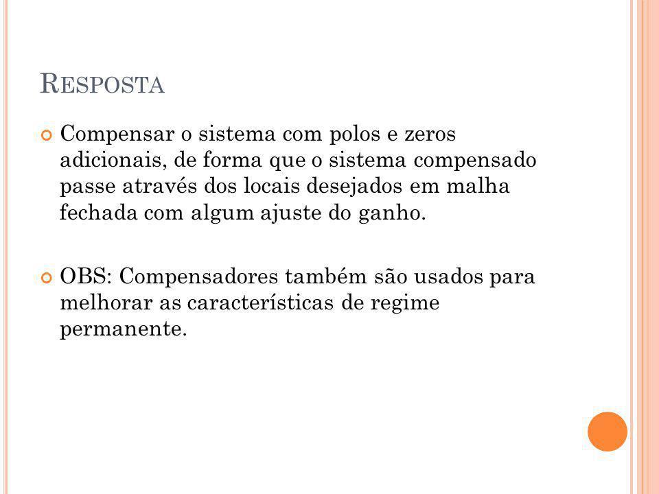 CONFIGURAÇOES DE COMPENSADORES