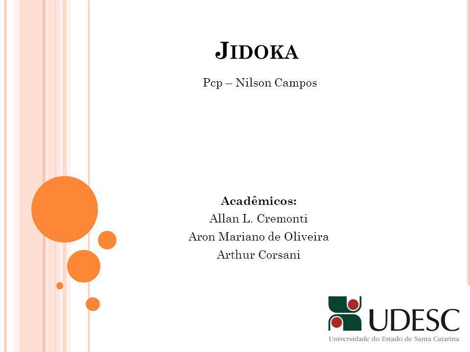 J IDOKA Acadêmicos: Allan L. Cremonti Aron Mariano de Oliveira Arthur Corsani Pcp – Nilson Campos