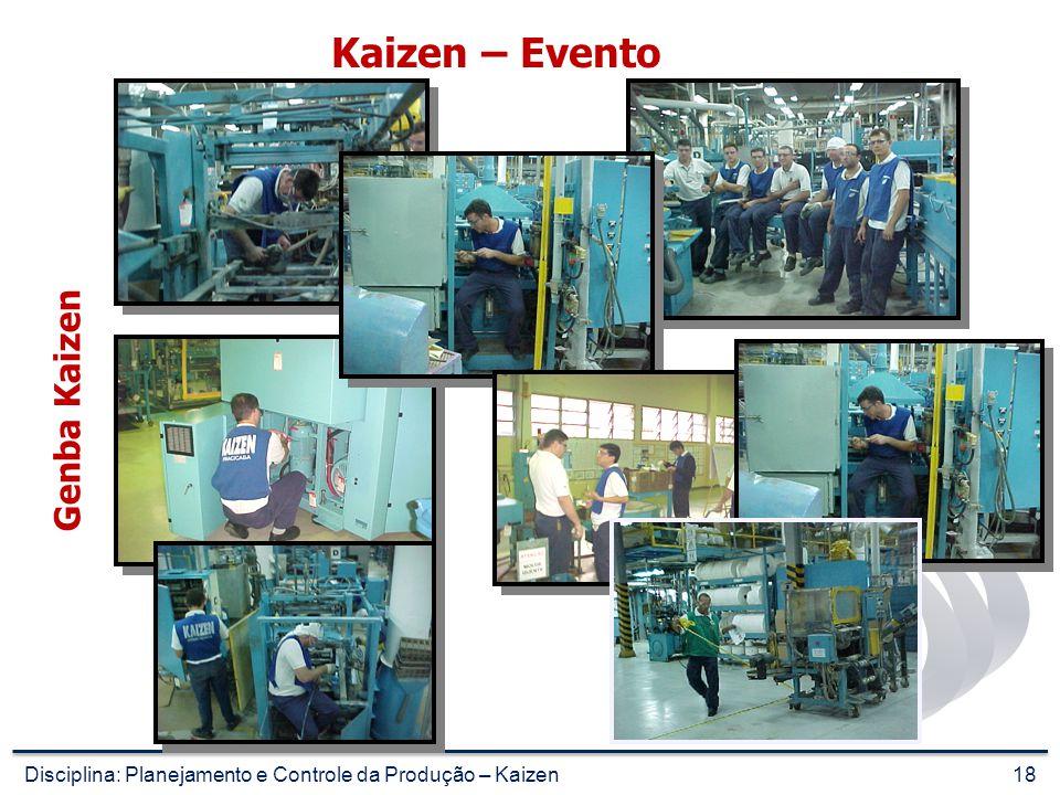 17 Kaizen – Evento Indo ao Genba Disciplina: Planejamento e Controle da Produção – Kaizen