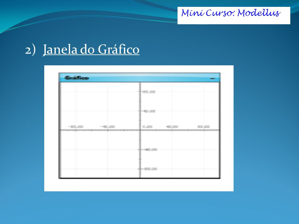 2) Janela do Gráfico Mini Curso: Modellus