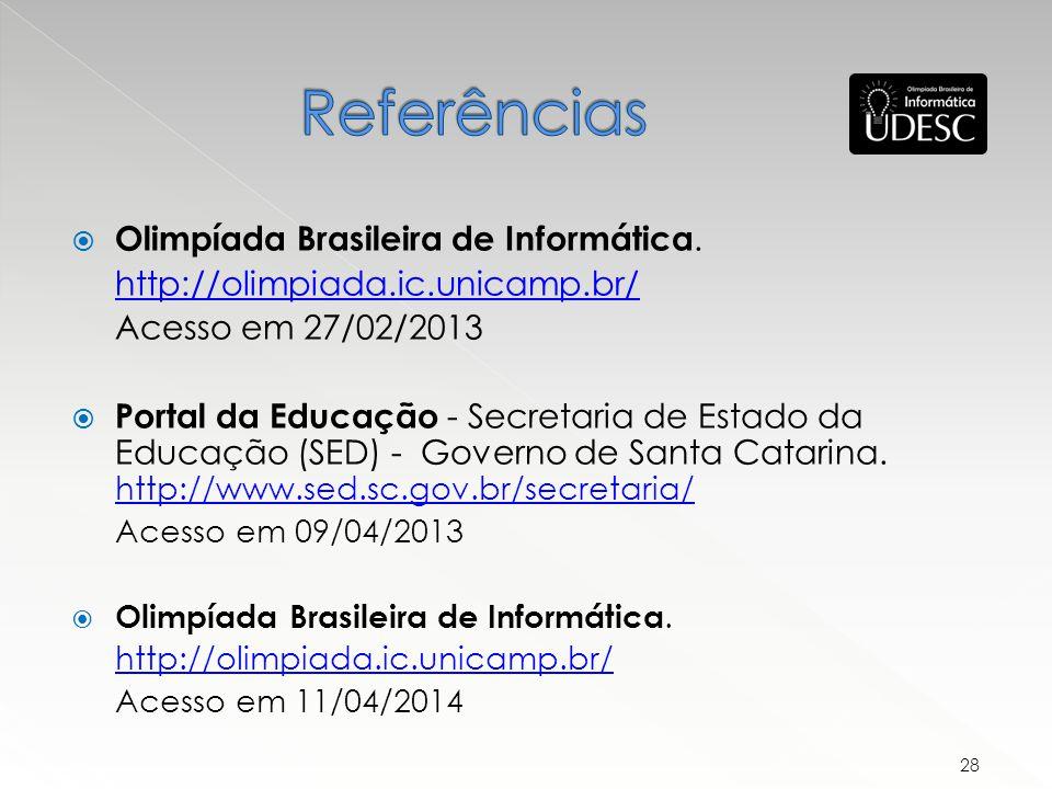 Olimpíada Brasileira de Informática.