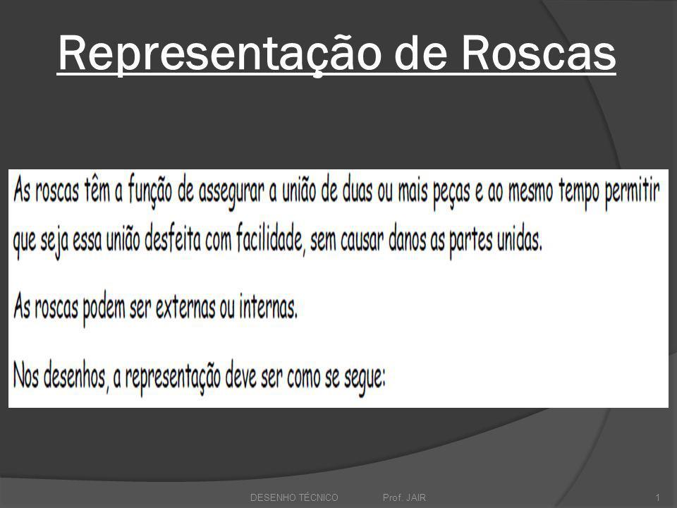 Representação de Roscas DESENHO TÉCNICO Prof. JAIR1