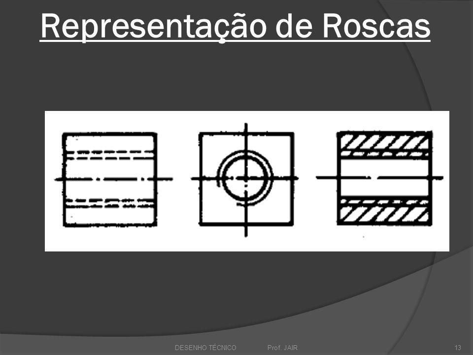 Representação de Roscas DESENHO TÉCNICO Prof. JAIR13