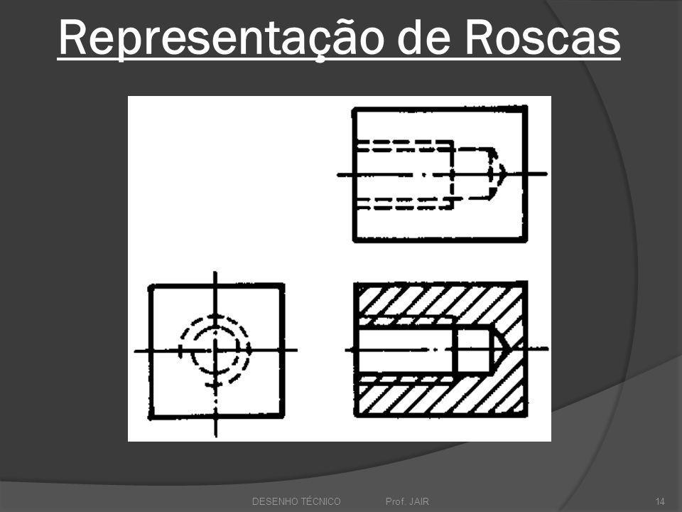 Representação de Roscas DESENHO TÉCNICO Prof. JAIR14