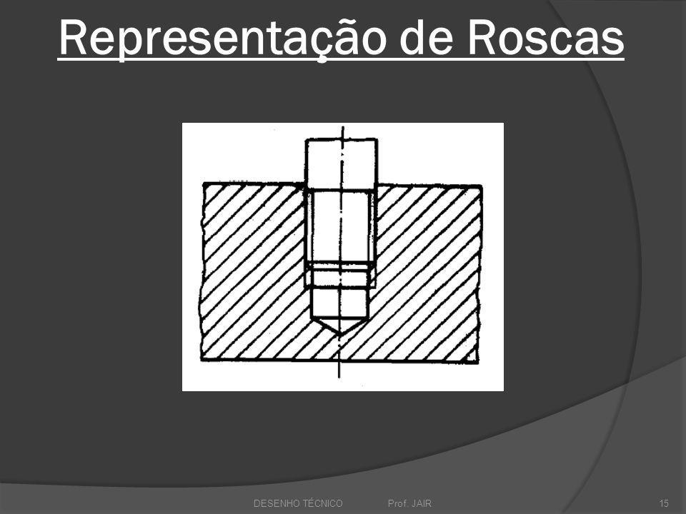 Representação de Roscas DESENHO TÉCNICO Prof. JAIR15