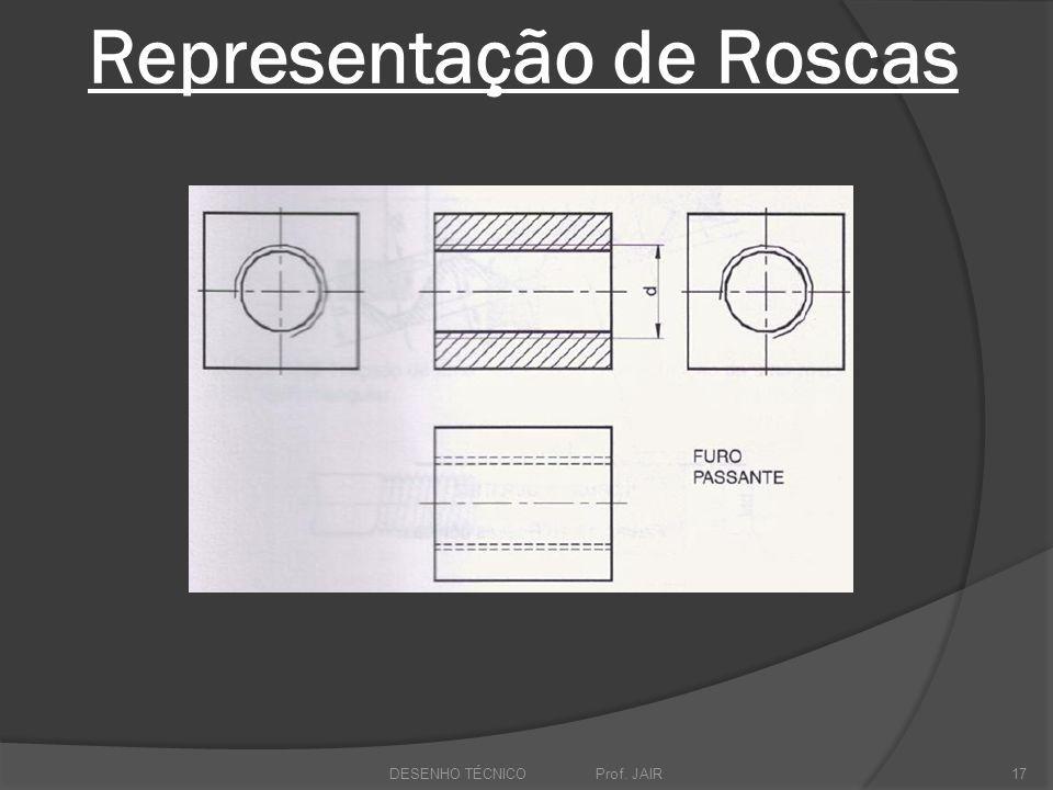 Representação de Roscas DESENHO TÉCNICO Prof. JAIR17