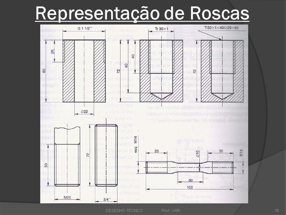 Representação de Roscas DESENHO TÉCNICO Prof. JAIR18