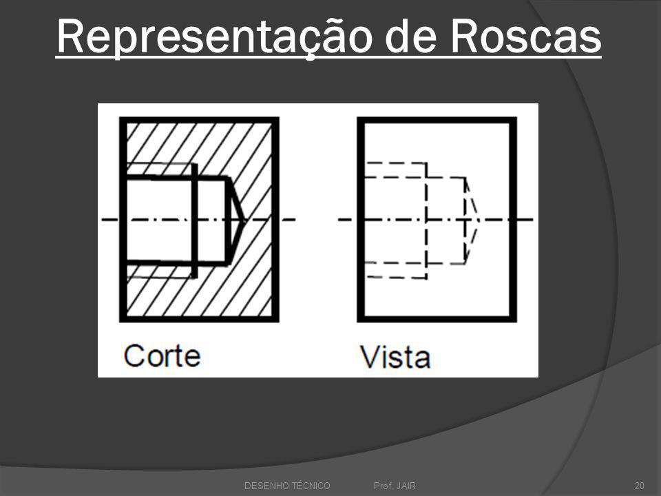 Representação de Roscas DESENHO TÉCNICO Prof. JAIR20