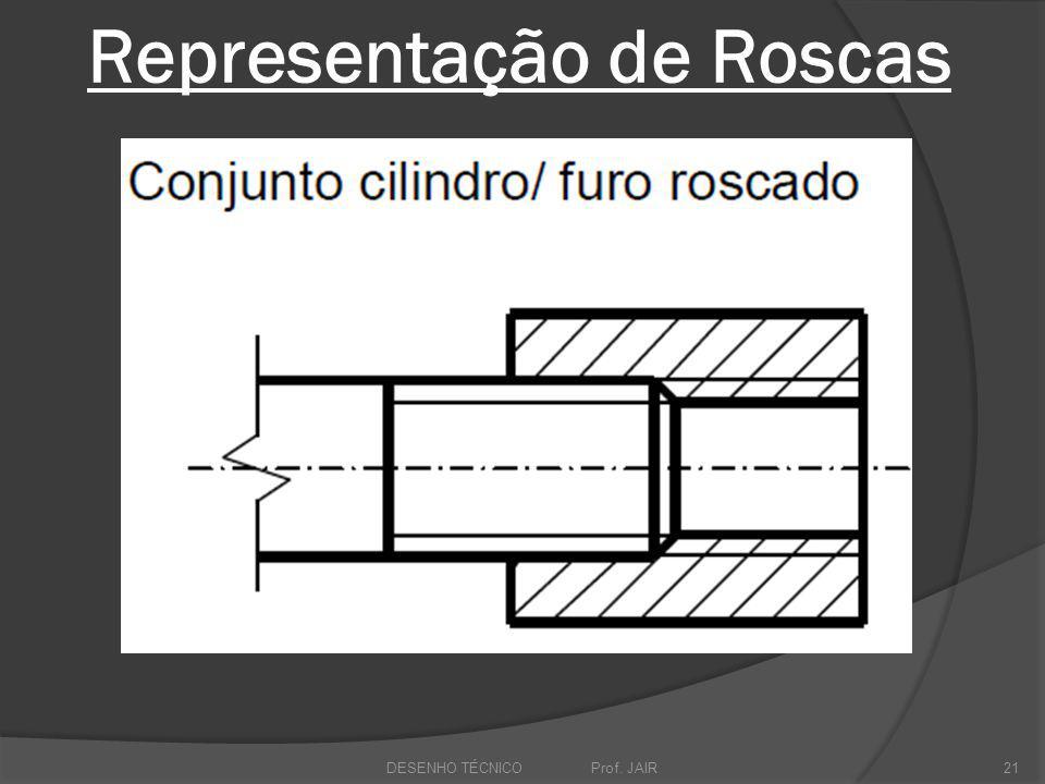 Representação de Roscas DESENHO TÉCNICO Prof. JAIR21