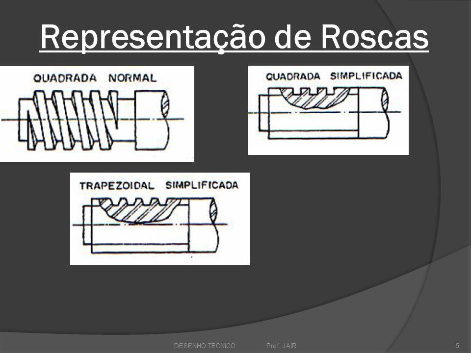 Representação de Roscas DESENHO TÉCNICO Prof. JAIR5
