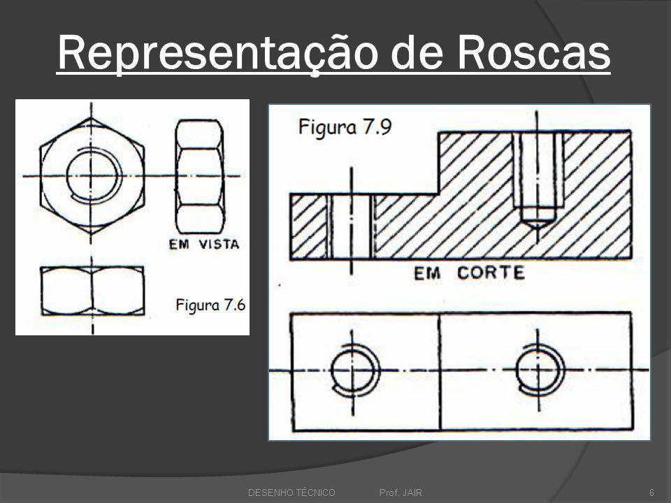 Representação de Roscas DESENHO TÉCNICO Prof. JAIR6