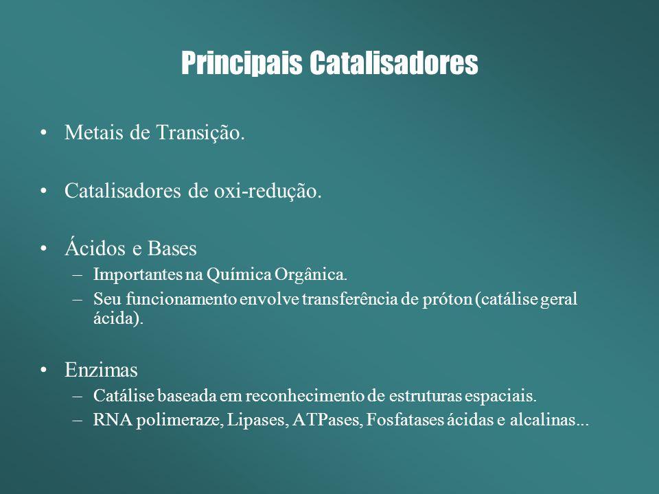 Principais Catalisadores Metais de Transição.Catalisadores de oxi-redução.