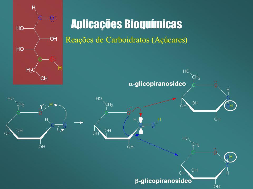 Aplicações Bioquímicas Reações de Carboidratos (Açúcares) -glicopiranosídeo