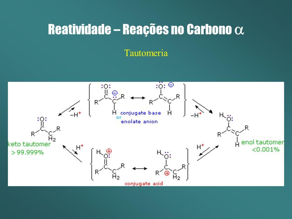 Reatividade – Reações no Carbono Tautomeria