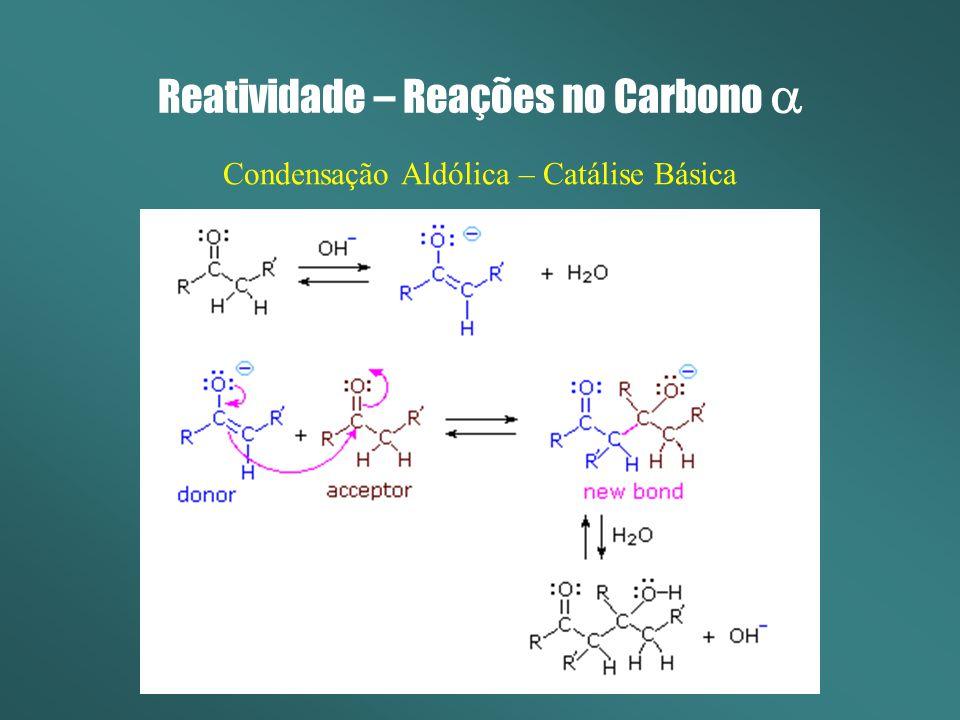 Reatividade – Reações no Carbono Condensação Aldólica – Catálise Básica