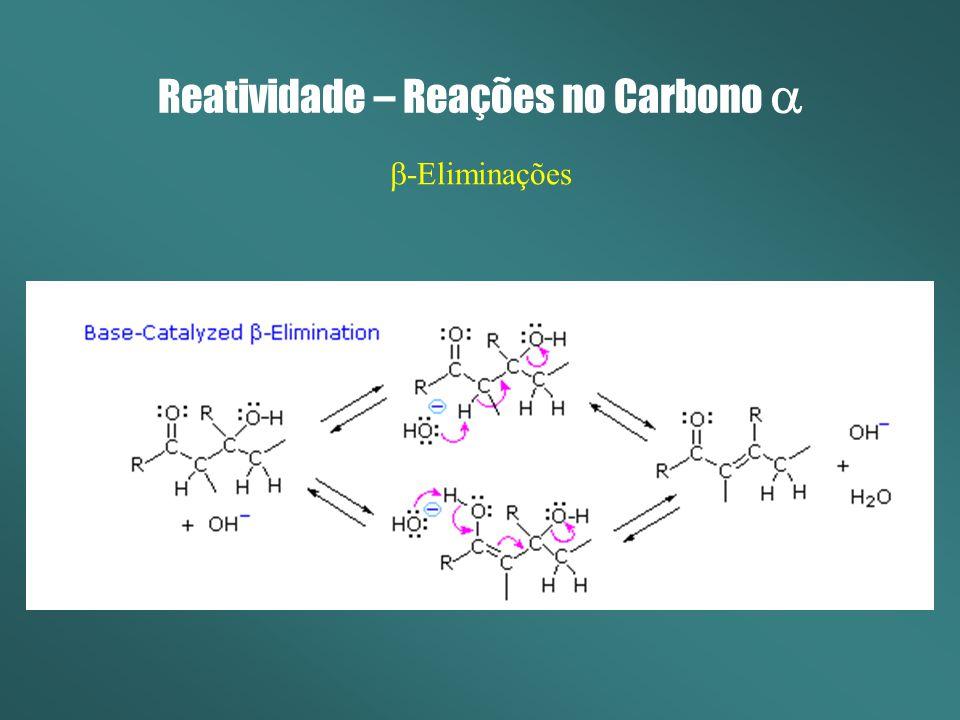 Reatividade – Reações no Carbono -Eliminações