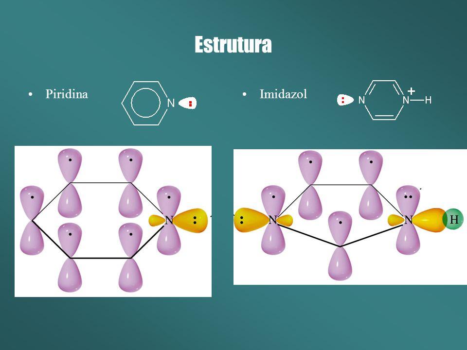 Reatividade Comportam-se como fontes de elétrons (Nucleófilos) Tendem a reagir com grupamentos positivos.