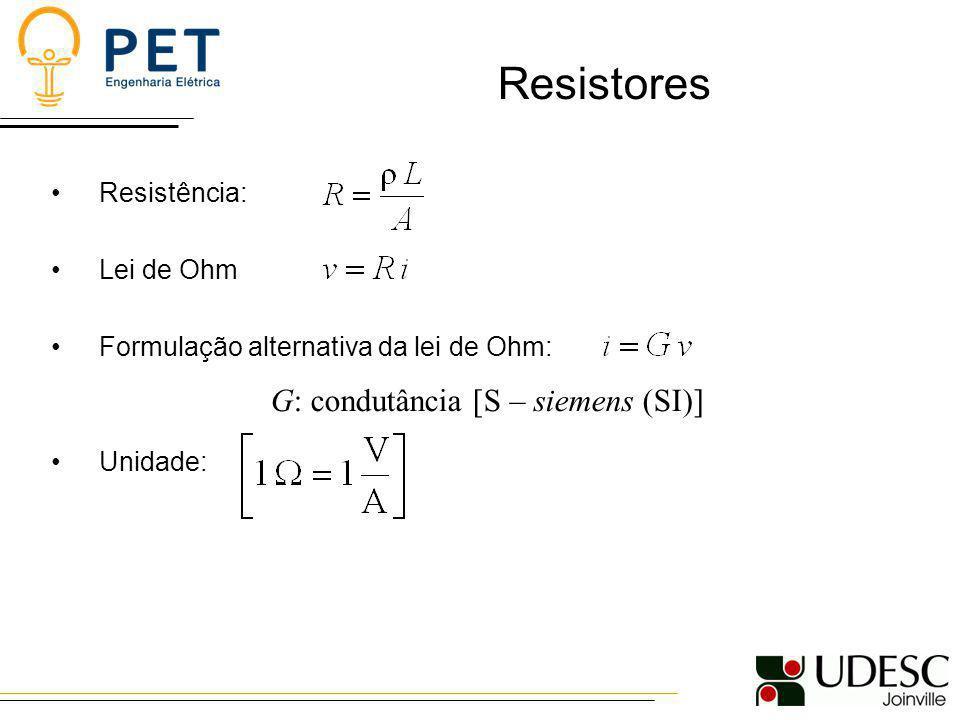 Resistores Código de cores: a = 1ª Dígito b = 2ª Dígito n = 3ª Dígito Tolerância ( % ) PRATA---10 DOURADO---5 PRETO000- MARROM1111 VERMELHO2222 LARANJA333- AMARELO444- VERDE555- AZUL666- VIOLETA777- CINZA888- BRANCO999-