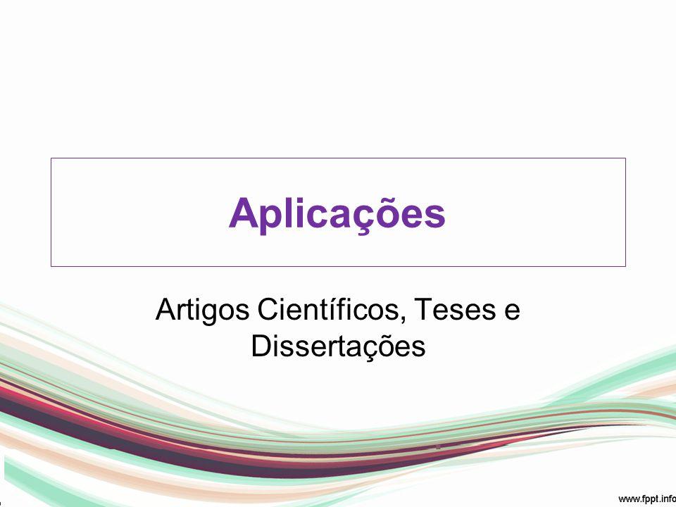 Aplicações Artigos Científicos, Teses e Dissertações