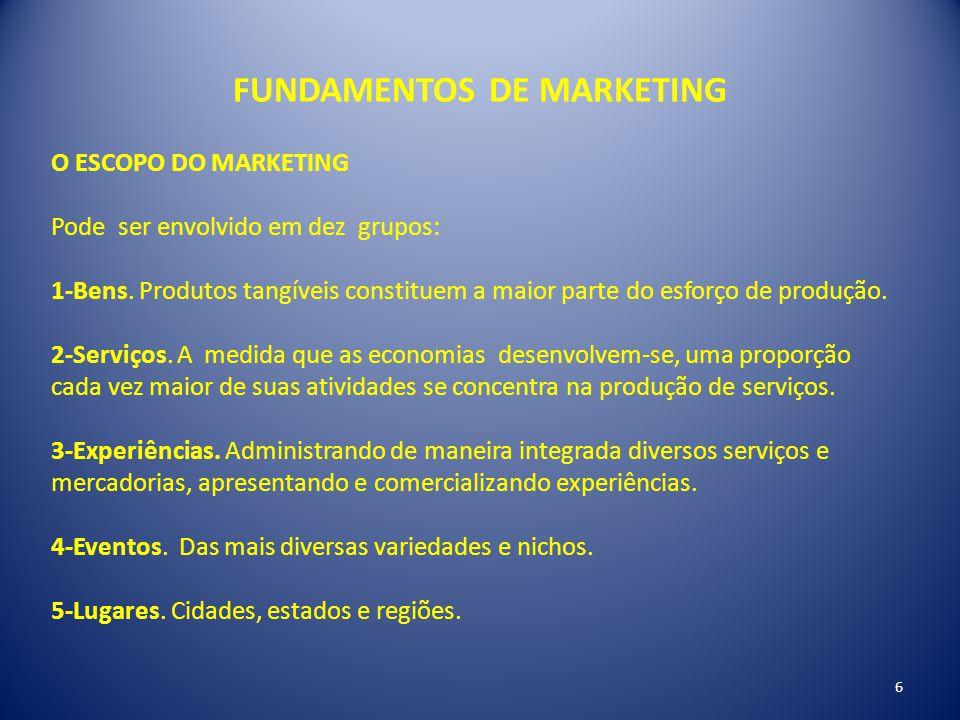 FUNDAMENTOS DE MARKETING O ESCOPO DO MARKETING 6-Propriedades.