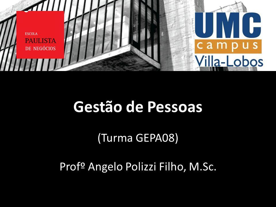 Gestão de Pessoas (Turma GEPA08) Profº Angelo Polizzi Filho, M.Sc.