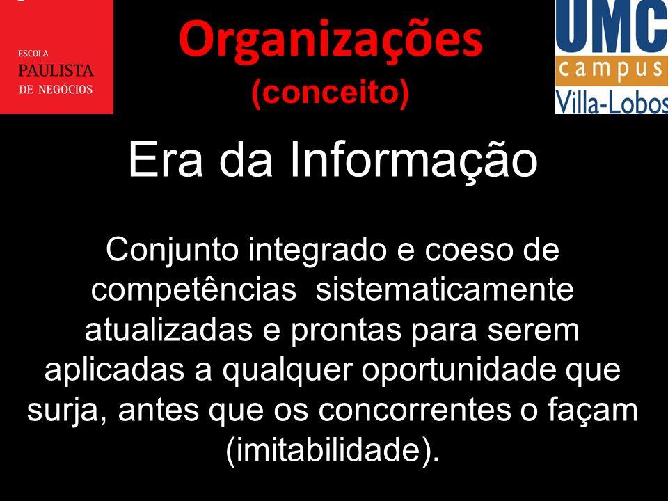 Era da Informação Conjunto integrado e coeso de competências sistematicamente atualizadas e prontas para serem aplicadas a qualquer oportunidade que s