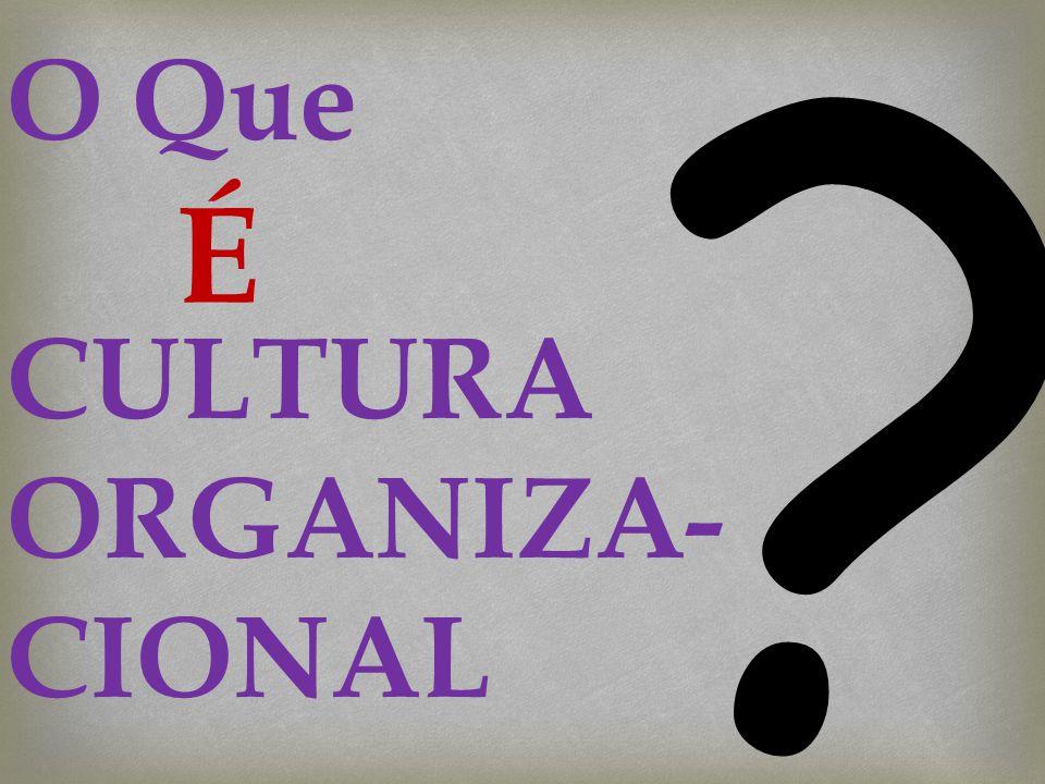 O Que CULTURA ORGANIZA- CIONAL ? É