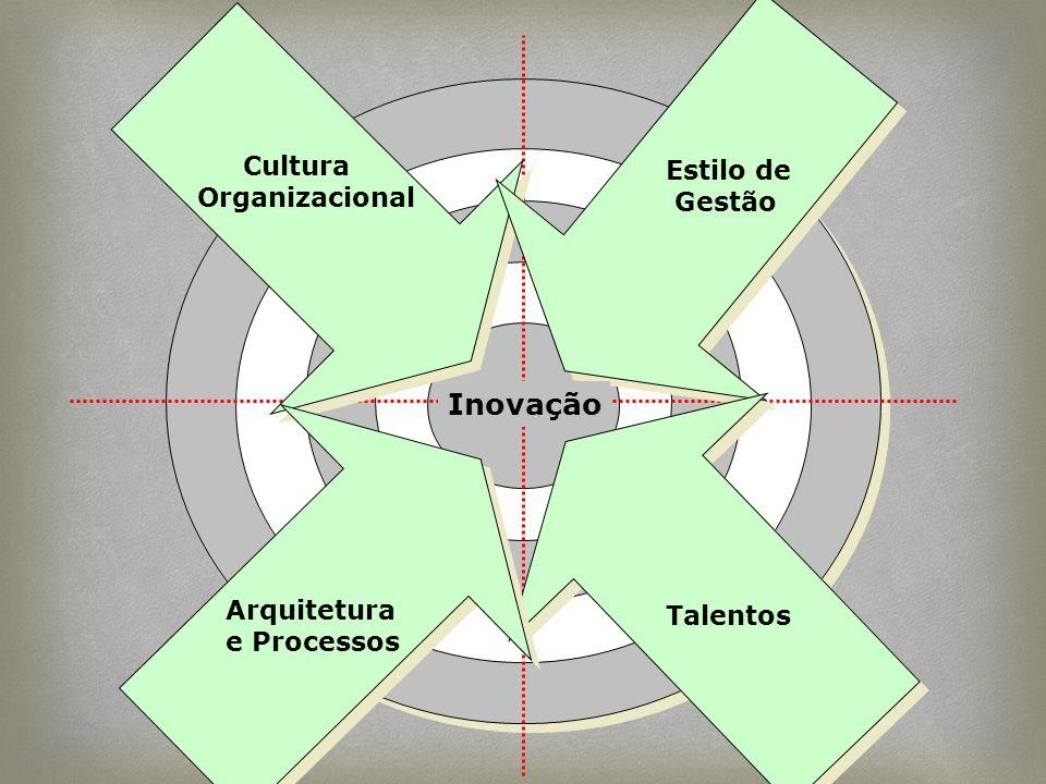 Cultura Organizacional Estilo de Gestão Talentos Inovação Arquitetura e Processos