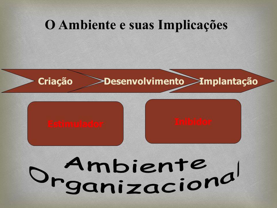 Criação Desenvolvimento Implantação Estimulador Inibidor O Ambiente e suas Implicações