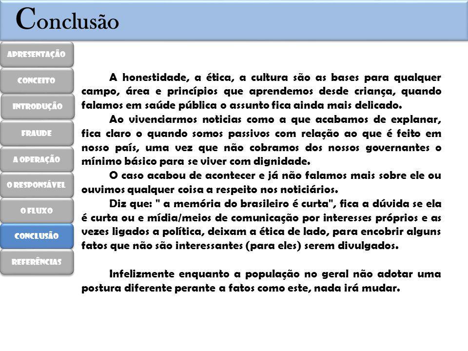 R eferências http://www1.folha.uol.com.br/cotidiano/2013/05/1275671-efeitos-de-leite-adulterado-pode-surgir-a-longo- prazo-diz-ministerio.shtml(acesso em 14/04/2014) http://revistapesquisa.fapesp.br/2014/01/13/imagens-%E2%80%A8da-fraude/(acesso em 14/04/2014) https://www.google.com.br/search?q=dados+estatisticos+sobre+a+adultera%C3%A7%C3%A3o+do+leite&oq= dados+estatisticos+sobre+a+adultera%C3%A7%C3%A3o+do+leite&aqs=chrome..69i57.18240j0j8&sourceid=chr ome&es_sm=122&ie=UTF-8(acesso em 15/04/2014) http://www.comunicacaoecrise.com/new/index.php?option=com_content&view=article&id=585:leite- contaminado-no-sul-continha-substancia-cancerigena&catid=35:blog&Itemid=54 (acesso em 15/04/2014) http://oglobo.globo.com/economia/defesa-do-consumidor/leite-adulterado-300-mil-litros-foram- processados-em-sp-pr-11879110 (acesso em 15/04/2014) http://zerohora.clicrbs.com.br/rs/economia/noticia/2013/11/investigacao-descobre-nova-fraude-no-leite- com-adicao-de-agua-oxigenada-no-rio-grande-do-sul-4325797.html(acesso em 15/04/2014) http://economia.uol.com.br/agronegocio/noticias/redacao/2014/03/14/empresa-diz-que-retirou-do- mercado-leite-contaminado-por-formol.htm(acesso em 15/04/2014) http://jcrs.uol.com.br/site/noticia.php?codn=157252(acesso em 15/04/2014) http://www.sbt.com.br/jornalismo/noticias/31881/Ministerio-da-Agricultura-investiga-adulteracao-em-leite- no-RS.html(acesso em 15/04/2014) Apresentação introdução fraude A operação O responsável O fluxo conclusão Referências conceito