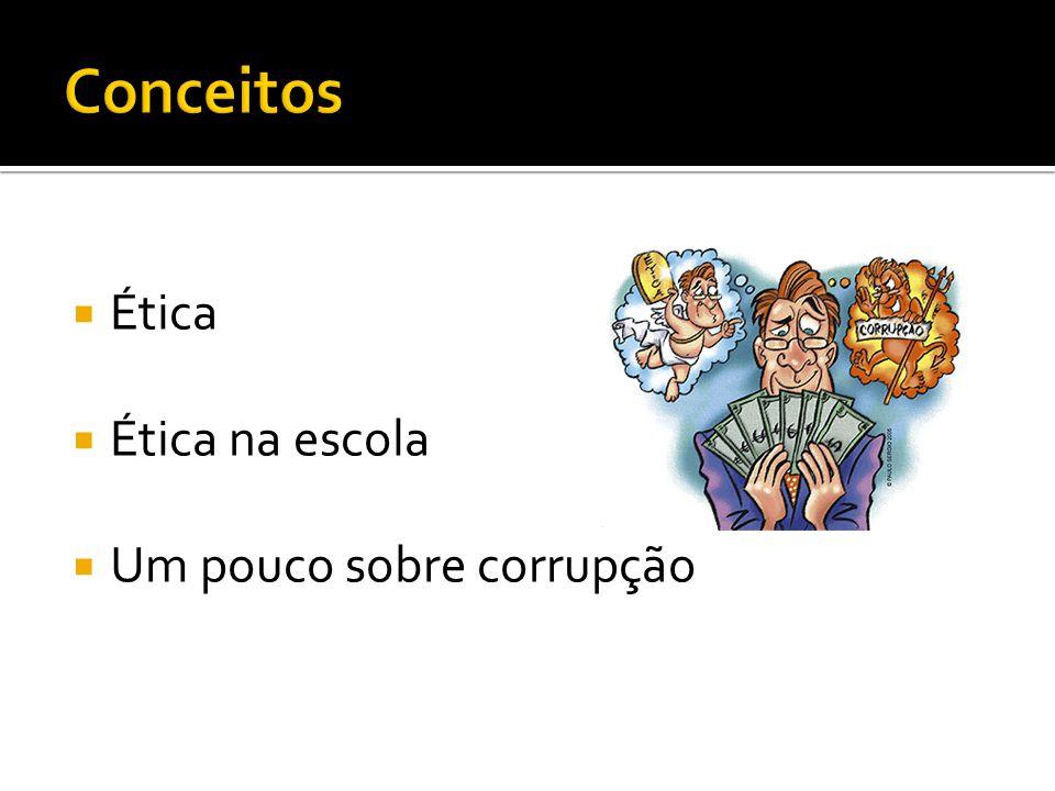 Ética Ética na escola Um pouco sobre corrupção