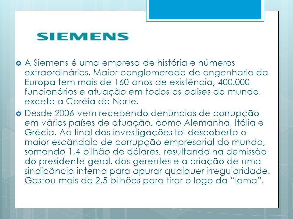 A Siemens é uma empresa de história e números extraordinários. Maior conglomerado de engenharia da Europa tem mais de 160 anos de existência, 400.000
