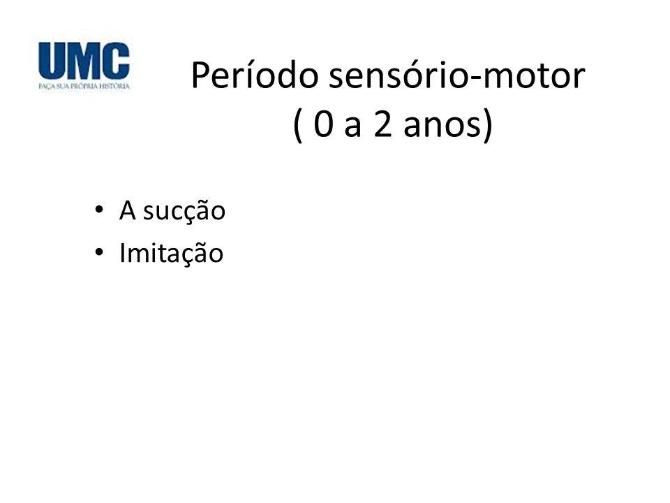 Período sensório-motor ( 0 a 2 anos) A sucção Imitação
