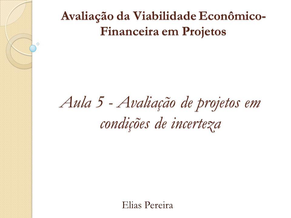 Avaliação da Viabilidade Econômico- Financeira em Projetos Elias Pereira Aula 5 - Avaliação de projetos em condições de incerteza