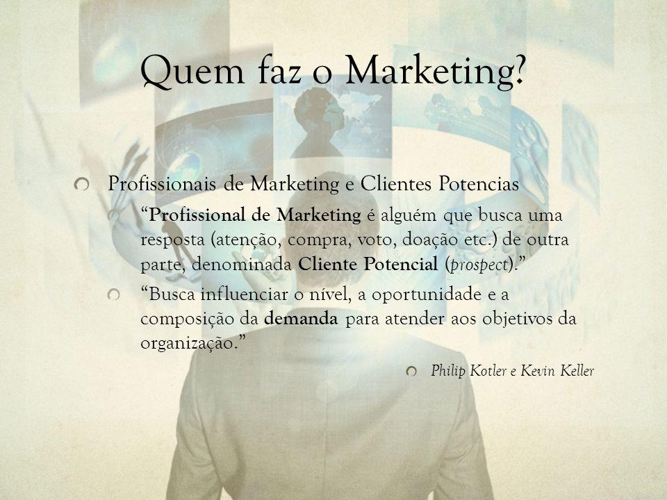 Quem faz o Marketing.