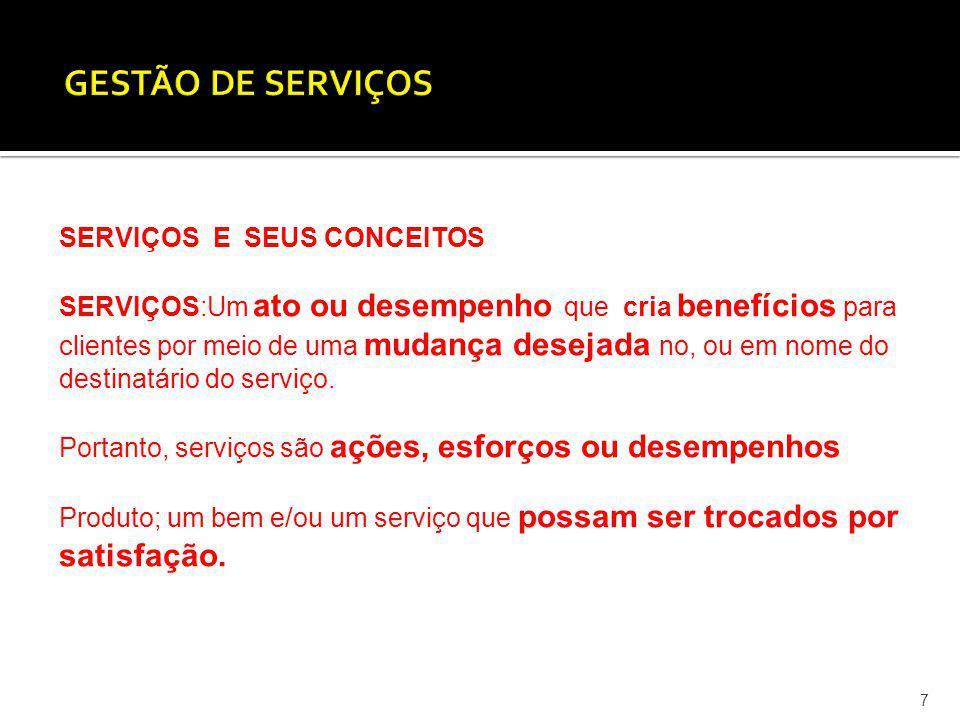 8 Características dos serviços Os serviços possuem as seguintes características que têm interesse para o seu entendimento e ações de gestão e marketing: Intangibilidade: serviços são idéias e conceitos (processos).