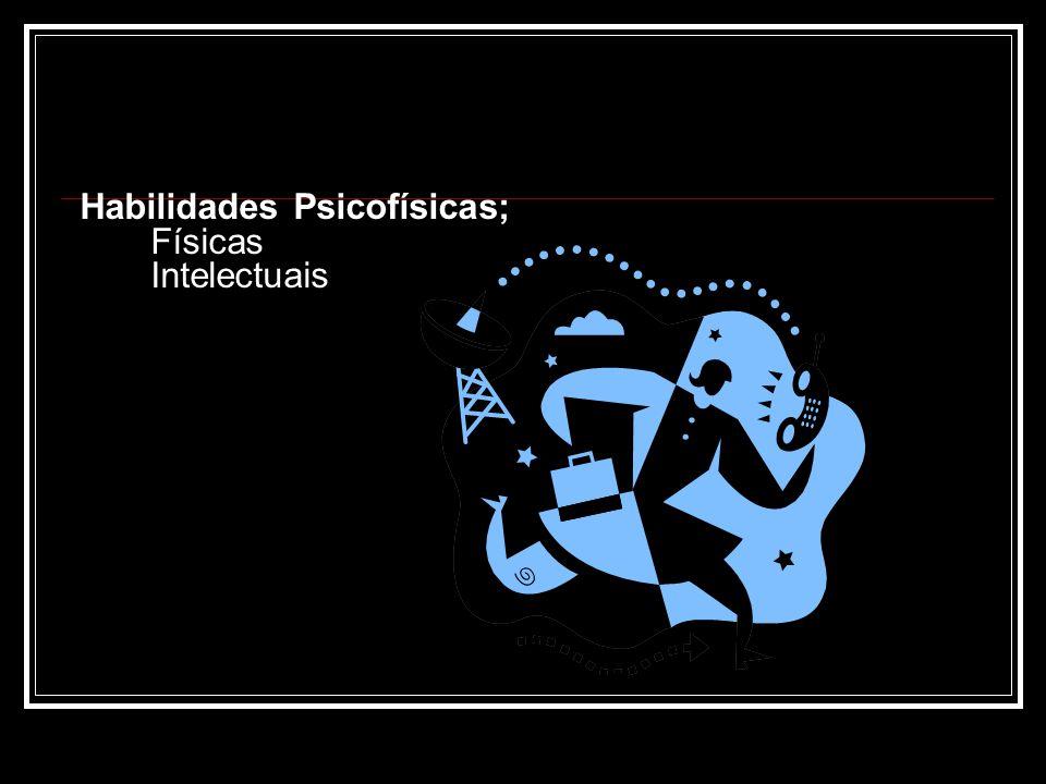 Habilidades Psicofísicas; - Físicas - Intelectuais